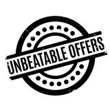 Unbeatable Offers rubber stamp Stock Photos