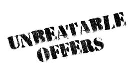 Unbeatable Offers rubber stamp Royalty Free Stock Photography