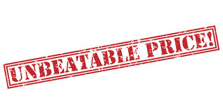 Unbeatable price! red stamp Royalty Free Stock Photos
