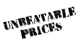 Unbeatable Prices rubber stamp Stock Image
