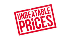 Unbeatable Prices rubber stamp Royalty Free Stock Photo
