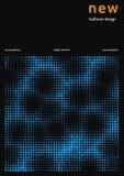Unbedeutender Abdeckungsentwurf mit Farbhalbton Vektorentwurf für Bericht in der unbedeutenden Technologieart stock abbildung