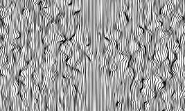 Unbedeutender abstrakter Wellenformhintergrund Hand gezeichnetes Muster für modernes Plakat Bewegt optische Täuschung wellenartig vektor abbildung