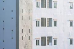 Unbedeutender Konzepthintergrund der Gebäudestruktur Stockbild