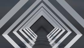 Unbedeutender Rautenarchitekturdekor, abstraktes Tunnelmuster vektor abbildung