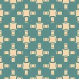 Unbedeutendes geometrisches nahtloses Muster der einfachen Vektorzusammenfassung Grün und Beige vektor abbildung