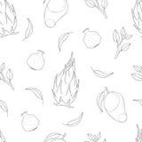 Unbedeutendes nahtloses exotisches Fruchtmuster Lizenzfreies Stockfoto