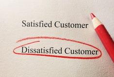Unbefriedigter Abnehmer Lizenzfreies Stockbild