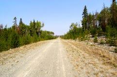Unbegrenzte Straße Kanada stockbilder