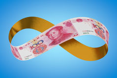 Unbegrenzter goldener Yuan Lizenzfreies Stockbild