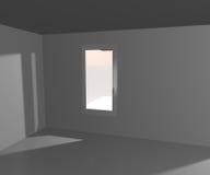 Unbegrenzter weißer Fenster-Hintergrund Stockfoto