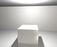 Unbegrenzter weißer Scheinwerfer-Hintergrund Stockfotografie