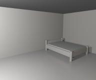 Unbegrenzter weißer Schlafzimmer-Hintergrund Lizenzfreies Stockfoto