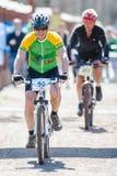 Unbekannte Rennläufer auf dem Wettbewerb Stockbild