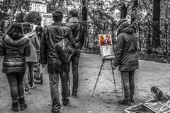 Unbekannter Maler zeichnet Lizenzfreie Stockbilder