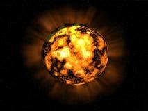 Unbekannter Planet auf einem dunklen Hintergrund Lizenzfreie Stockfotos