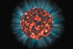 Unbekannter Planet auf einem dunklen Hintergrund Lizenzfreies Stockbild
