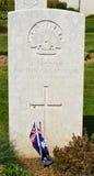 Unbekannter Soldat Grave in Pozieres, Frankreich Lizenzfreies Stockfoto