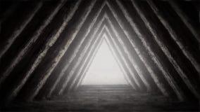 Unbekannter Tempel des Schicksals in der Pyramide stock video