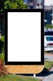 Unbelegte Anschlagtafel auf der Straße Lizenzfreies Stockbild
