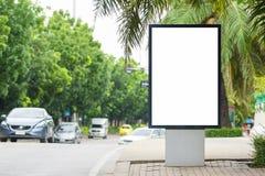Unbelegte Anschlagtafel mit Exemplarplatz Stockfoto