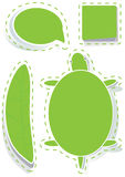 Unbelegte Art Stickers_eps Stockbilder