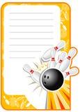 Unbelegte Bowlingspiel-Einladung Lizenzfreies Stockfoto