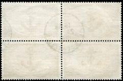 Unbelegte Briefmarke gestaltet durch schwarzen Rand lizenzfreie stockfotografie