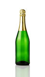 Unbelegte Champagnerflasche Stockbilder