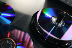 Unbelegte DVD Media Stockfotos