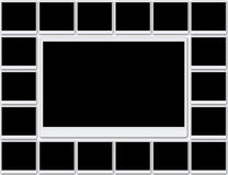 Unbelegte Fotofelder Stockbilder