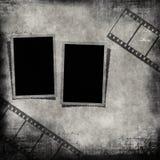 Unbelegte Fotofelder und Filmstreifen Lizenzfreie Stockfotografie