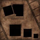 Unbelegte Fotofelder und Filmstreifen Lizenzfreie Stockbilder