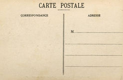 Unbelegte französische Postkarte Stockfotografie