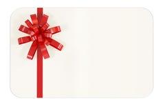 Unbelegte Geschenk-Karte Stockfotografie