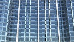 Unbelegte Glasfassade des Bürohauses Stock Abbildung