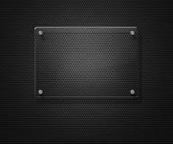Unbelegte Glasplatte über Metallineinander greifen Stockfoto