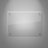 Unbelegte Glasplatte Stockfoto