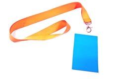 Unbelegte Identifikation-Kartenmarke Lizenzfreie Stockbilder