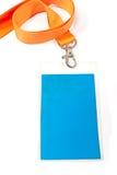 Unbelegte Identifikation-Kartenmarke Stockbild