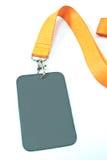 Unbelegte Identifikation-Kartenmarke Lizenzfreies Stockbild