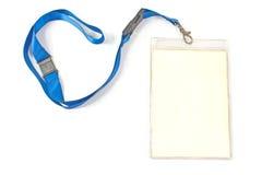 Unbelegte Identifikation-Kartenmarke Stockfoto