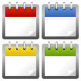 Unbelegte Kalender-Ikonen eingestellt Lizenzfreies Stockfoto