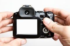 Unbelegte kompakte Kamera Lizenzfreies Stockbild