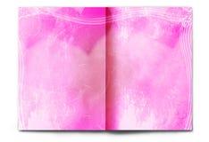 Unbelegte/leere Valentinstagzeitschriftverbreitung Stockbild