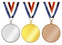 Unbelegte Medaillen stock abbildung