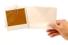 Unbelegte polaroidabbildung Lizenzfreie Stockfotografie