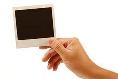 Unbelegte polaroidabbildung Stockbild