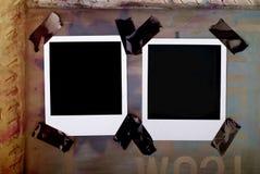 Unbelegte polaroidfelder Lizenzfreies Stockfoto