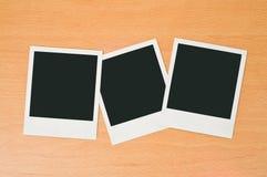 Unbelegte polaroidfelder Lizenzfreie Stockfotografie